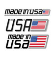 made in usa vector image vector image