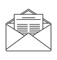 mail icon outline style vector image