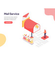 mail service concept isometric design concept of vector image