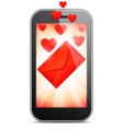 Mobile Love Letter vector image vector image