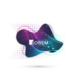 modern abstract graphic design element vector image vector image