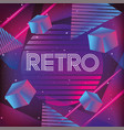 neon geometric texture and retro style vector image vector image