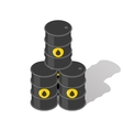 Oil barrels vector image