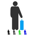 passenger baggage flat icon vector image vector image