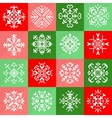 Pixel Christmas Snowflakes Set for Winter Holidays vector image