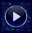 play button blue 3d icon vector image
