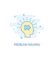 problem solving line concept simple line icon vector image
