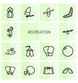 recreation icons vector image vector image