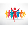 running people set of symbols competition vector image vector image