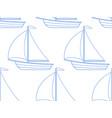 sailing boat pattern vector image vector image