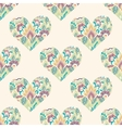 Seamless with floral hearts vector image vector image