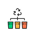 separate garbage collection waste sorting flat vector image
