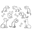 Set Of Cartoon Dogs vector image vector image