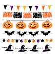 set of halloween or dia de los muertos day vector image vector image