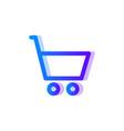 shopping blue purple gradient icon buy symbol vector image vector image