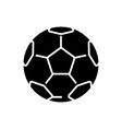 soccer ball - football icon vector image