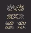 split letters split monogram font split alphabet vector image vector image