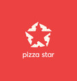 star made pizza slices logo icon design modern vector image vector image