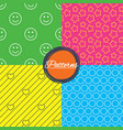 stars hearts and smile circles textures vector image vector image