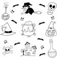 Stock element halloween doodle vector image vector image