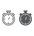 stopwatch line and glyph icon time and measure vector image vector image