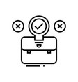suitcase line icon concept sign outline vector image vector image