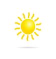 sun yellow vector image vector image