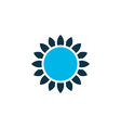 sunflower icon colored symbol premium quality vector image