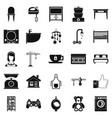teahouse icons set simple style vector image vector image