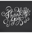 Thank you lettering Floral hand drawn vector image