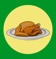 thanksgiving turkey simple vector image