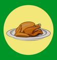 thanksgiving turkey simple vector image vector image