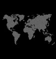 this is a white dot earth map isolated vector image