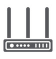 wifi router glyph icon network and connection vector image vector image