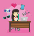 woman shopping online vector image