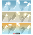 Flat style mountains banners vector image