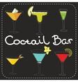 Set of alcoholic cocktails art stylized vector image