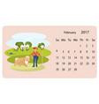 calendar 2018 for february vector image