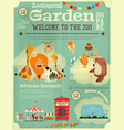 zoo park poster vector image