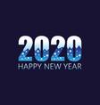 2020 happy new year insta color banner winter vector image vector image