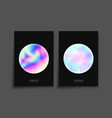 abstract holographic gradient texture background vector image vector image