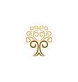 abstract tree decorative logo vector image vector image