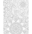 adult coloring bookpage a cute abstract floral vector image vector image