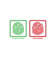 affirmative and denied access fingerprint symbol vector image