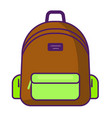 backpack icon - school symbol - travel icon vector image