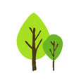 brush painted tree isolated on a white background vector image vector image