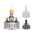 cartoon holy church of christian religion with vector image