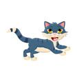 cartoon jumping cat symbol icon design vector image vector image