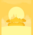 china flat design travel morning vector image