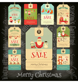 Christmas Sale Tags in Retro Style vector image